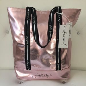 NWT Kendall & Kylie Pink Metallic Travel/Tote Bag